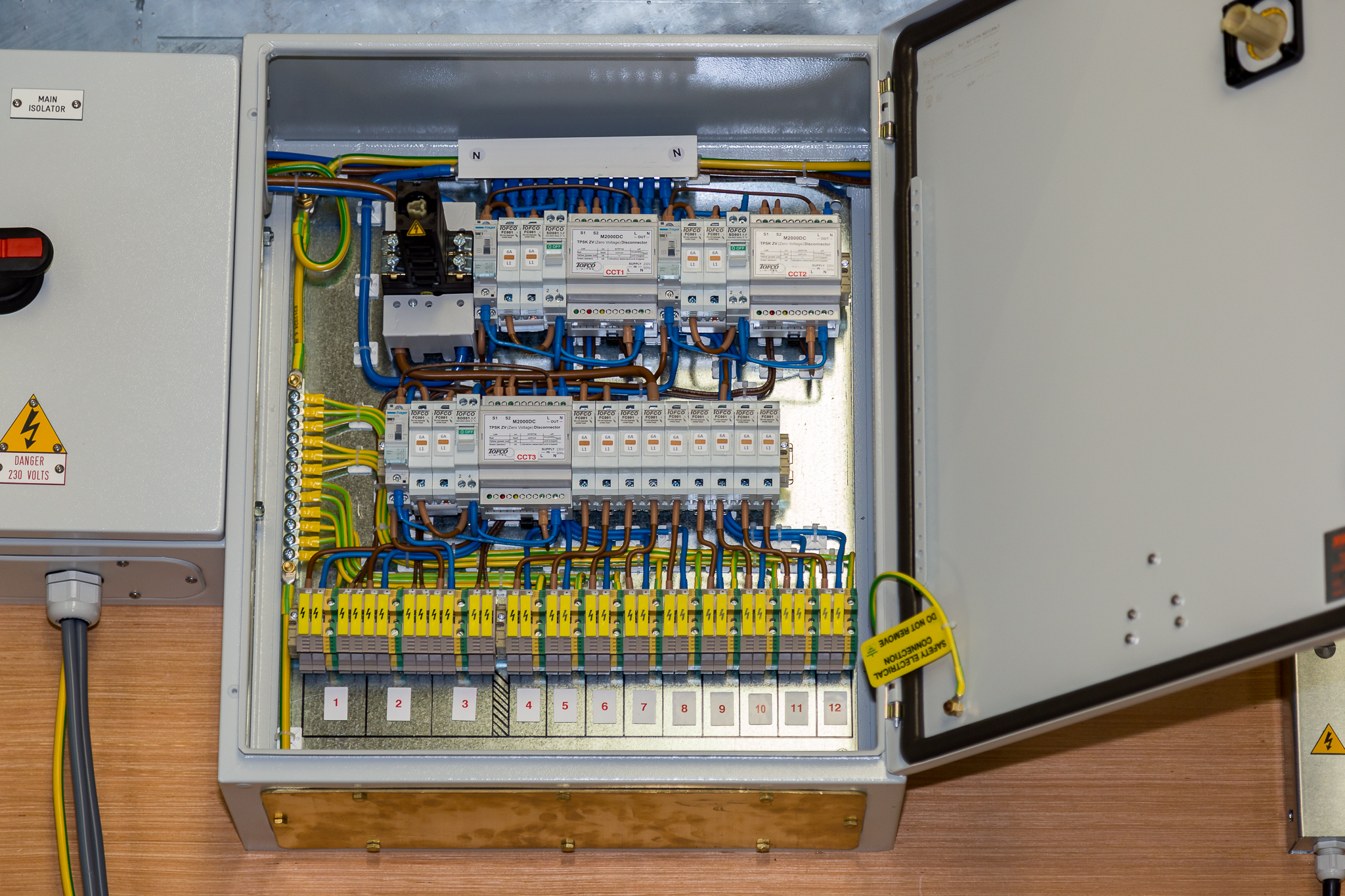 Pre Wired Panels Tofco Cpp Ltd Rcbo Wiring Diagram A Variety Of Protective Devices Fuses Mcb Rcd Etc Optional Internal Components Include Light Heater Thermostat Socket Document Holders